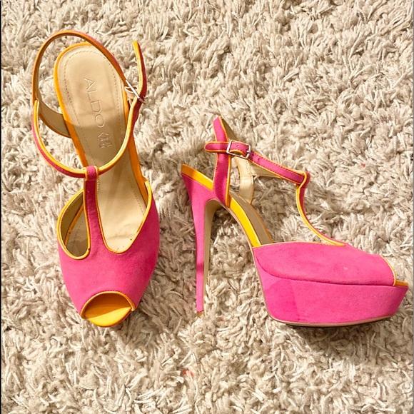 Aldo Shoes - ALDO Hot Pink Platform High Heels